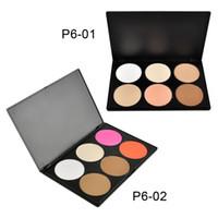Wholesale 6 Colors Makeup Concealer Blush Trimming Contour Set Face Powder Palette Foundation Make up Palette Comestics Concealer