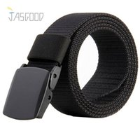 belt buckle material - JasGood Military Nylon Mens Belt Smooth Buckle DIY Cut Belts Length Plain Webbing Waist Belts with Breathable Material