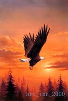 bald eagle pictures - Original US high tech HD Print Animal Oil Painting Wall Decor Art on Canvas Bald Eagle in Flight x36