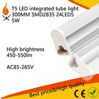 Wholesale samll T5 inregrated tube bulbs w mm ft SMD2835 leds Led Fluorescent Light LM AC85