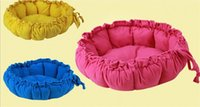 Wholesale 6 Colors Softy Round Warm Comfortable Love Pad Pet Dog Cat L Size Sweet Pumpkin House jy790