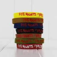 Wholesale Five Night at Freddy s Jelly Bracelets Colors Silicone Fashion Wristbands FNAF Figure Toys Children Christmas Gifts