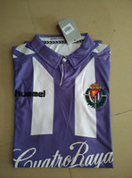 Wholesale real valladolid home jerseys sports shirt camiseta de fútbol camisas