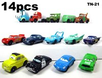 Armor blue buses - 14pcs set Pixar Cars Lightning McQueen mater Sally Action Figure doll and DIECAST FIGURE MACK SUPER LINER TRUCK cm play Toy Kids Gift