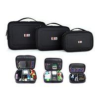 bamboo digital pen - 3PCS Set BUBM Travel Digital Storage Bag Electronic Accessories Cable Organizer Bag Hard Drive Cable Pen Drive Case Organizer