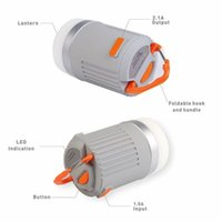 Wholesale Bonnie Portable Ultra Bright LED Camping Lantern mAh Power Bank Lumens IP65 Waterproof Rechargeable Camping Lantern hrs pc