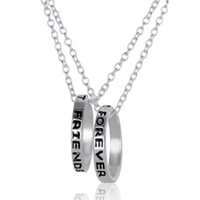 best friend jewellry - Fashion BFF Best Friends Forever Part Love Rings Eternity Necklaces Gold Silver Plated Statement Pendant Necklaces Jewelry Charm Jewellry