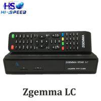 al por mayor cajas de cable digital-WorldWide FTA Zgemma-Star LC HD cable digital Receptor Linux OS E2 Actualizado DVB-C un sintonizador con software de canal completo Linux tv set top box