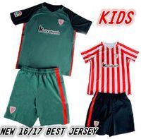 athletic boy shorts - Top Thai Quality Athletic Bilbao Kids kit Soccer Jerseys Children youth Kits football clothes SHIRTS