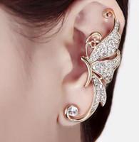 Wholesale New Fashion Crystal Clip On Earrings Glow In Dark Crawler Climber Steampunk Left Ear Earings for women