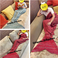 Wholesale Adult Mermaid Blankets Mermaid Sleeping Swaddle cm Handmade Crochet Mermaid Tail Blankets Mermaid Sleeping Bags D636