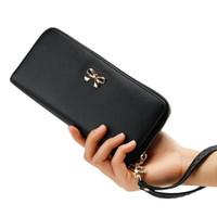 Precio de Monederos de las señoras libres-El nuevo bolso largo 50pcs del bolso del monedero del sostenedor de tarjeta de la carpeta de la señora Women Clutch Leather de la manera vende al por mayor el envío libre de DHL