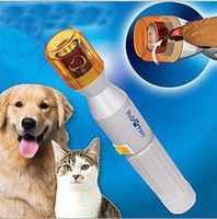Wholesale Pet Nail Trimmer Battery Powered Electric Grooming For Dogs Cats Gray