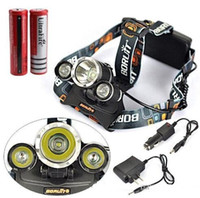 Wholesale good price Lumen T6 R5 Boruit Head Light Headlamp Outdoor Light Head Lamp HeadLight Rechargeable by x Battery Fishing Camping