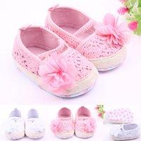 autumn season flowers - 2016 Girls SPring Autumn Crochet Hollow Princess First Walker Shoes Infant Flower Prewalker Toddler Antiskid Shoe Children Footwear