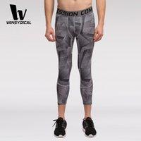 base layer legging - Mens new compression Base layer long pants legging running under tight Bodybuilding Skin Tights Sport pants Compression Pants