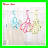 Wholesale 5 Holes Scarf Clothes Hanger flower shape European Simple Clothes Scarves Tie plastic Storage Rack hanger Closet Organizer