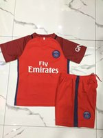 Wholesale Thail quality Kids uniforms arsenals PSG KIDS sets jerseys shorts more than set shipping with DHL