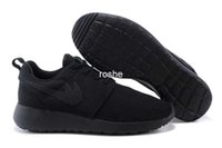 Wholesale Top Quality Classical Roshe Run All Black Running Shoes For Men Women Lightweight London Olympic Athletic Outdoor Sneakers Eur Size