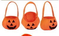 Wholesale Nonwovens Pumpkin Handbags Kid Bags Hallowmas Gifts Sack Bags new Style Drop Ship