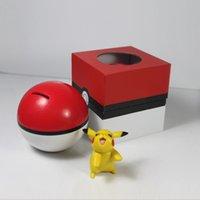action money - Poke Ball Money Pot Cartoon Money Box Coin Box Saving Pot Piggy Bank Doll Action Figure Toy Decoration Gift