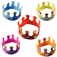 Wholesale New Baby Hat Birthday Party DIY adjustable Hats for Kids Colors