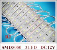 Wholesale LED module light lamp SMD waterproof LED modules for sign letters LED back light SMD5050 led W lm DC12V IP65