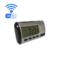 Wholesale Wifi Spy Hidden Mini Camera Clock With P CMOS MP Alarm Clock Cam Support IOS Android Remote Control Security Camera