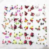 Wholesale Rose Flower Hair Accessories with Polyester Three dimensional Small Flower Garment Accessories Handmade DIY Ribbon Material