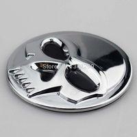 abs motor cars - pair Chrome D Skull ABS Stickers Emblem Badge Decal For Harley Suzuki Kawasaki motor Bike Car Custom