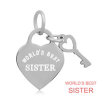 best sister necklace - 20pcs two color World s Best Sister Charms in Stainless steel For Alex and Ani Style expandable wire bangles European Bracelets Necklace
