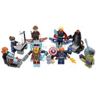 Wholesale SY619 Marvel Avengers Minifigures Iron Man Thor Hulk Captain America Building Blocks Super Hereos Models Figures Toys