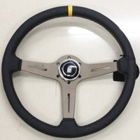 Wholesale Brand New Universal Fits Racing Sport Style mm Suede Deep Dish Alloy Steering Wheel