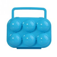 Wholesale Creative Portable Carry Eggs Plastic Container Holder Storage Box Case Folding Colors