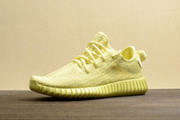 Wholesale New With Origina Box Original Fashion Yellow Kanye Boost Womens And Mens Running Shoes Sports Shoes Running Shoes