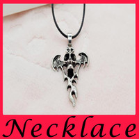 bad luck gifts - Flame Cross Pendant Fire Cool Man Necklace Restoring Ancient Ways To Ward Off Bad Luck Sword Titanium Steel Skeleton Necklace Fashion Jewel9