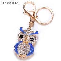 animal cloak - Cute Luxury Owl Key Chains with Colorful Cloak Elegant Animals Key Rings Rhinestone Car Keychains for Women and Girls mty