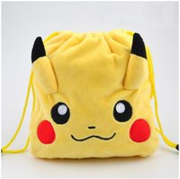 Wholesale hot sale popuplar cartoon pocket monster storage bag coin bag pencil bag plush bag phone bag