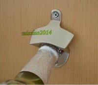 glass soda bottle - 250pcs Fashion Hot Stainless Steel Wall Mount Bar Beer Soda Glass Cap Bottle Opener Kitchen Tool