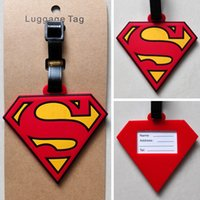 bags review - New Hot DC Comics Superman Logo Red cm Plastic Luggage Tag Name Bag Card Holder Be the first to write a review