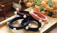 baby mail - 2016 new hot Korean fashion cloth Ms Europe and beaded geometric seamless towel ring Tousheng baby products e mail treasure