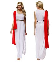 Women athena costume - God King Zeus Athena White Goddess Performing Clothes Halloween Evening Game Uniforms Cosplay Party Dancer DS Nightclub Costume Stage Wear