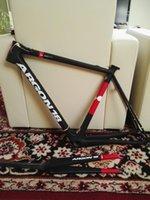 argon lighting - Super Light Carbon Frame Red Argon Gallium Pro Carbon Road Bicycle Frameset Matte glossy