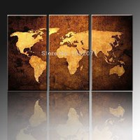Cheap Skilled Painter Hand--painted High Quality Abstract World Map Oil Painting On Canvas Modern Abstract World Map Canvas Painting