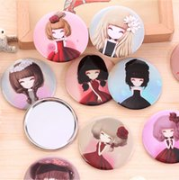 Wholesale 150 styles girl mini pocket makeup mirror cosmetic compact mirrors Small Cute Cartoon Pocket Hand Makeup Mirror BY DHL