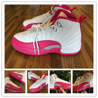 girls basketball shoes - Cheap Women s Retro GS Valentines Day Sports Shoes Dynamic Pink White Vivid fashion girls basketball shoes high quality women sneakers