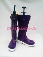 annie shoes - Custom Made American Game LOL Purple Annie Cosplay Shoes Long Boots For Christmas Halloween Festival