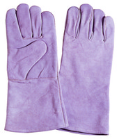 Wholesale Cow split leather welding gloves full cotton line A B Grade Cow Leather Welding Gloves Pairs Bag Length