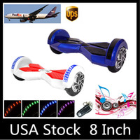 Wholesale USA Stock quot LED Scooter Hoverboard Bluetooth Remote Smart Balance Wheel Electric Skateboard Self Balancing Electric Scooters Dropshipping