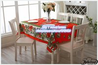 ba shops - red BAS European polyester plain it coffee shop restaurant Christmas tablecloth